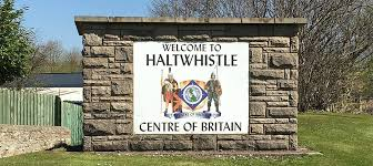 welcome to haltwhistle sign